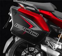 Kit Autocollant Valises Latéral Ducati Multistrada 1200 2010-2014 Rouge Style