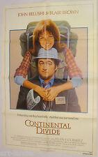 CONTINENTAL DIVIDE John Belushi Blair Brown Original 1981 Movie Poster 27x41