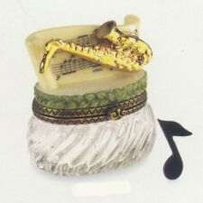 Saxaphone Phb Porcelain Hinged Box by Midwest of Cannon Falls