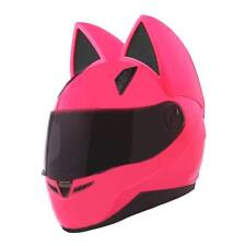 Cat ears Helmet full face black helmet NITRINOS Motorcycle racing helmet HighQ