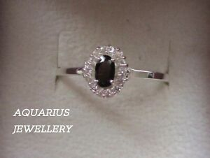 LADIES  STERLING SILVER  CRYSTAL RING HANDMADE SETTING CHOOSE SIZE FREE GIFT BOX