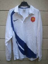 VINTAGE Maillot rugby Quinze de FRANCE away blanc rare Nike shirt XL