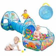 Kids Play Tent with Tunnel Ball Pit Play House for Boys Girls Babies and Todd...