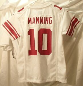 Eli Manning New York Giants Youth Size Small White Reebok Football Jersey ~ New