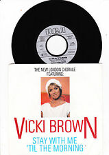 """7""""  Vicki Brown - Stay with me ´Til the Morning"""