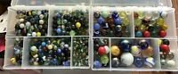 8 POUNDS 1990's Mix Marbles various sizes and styles. cool colors and designs!