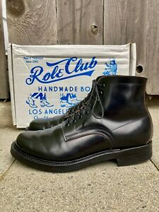 Role Club Brian The Bootmaker Black Shell Cordovan Townsman Boots Size 9.5E USA