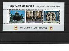 Österreich PM  personalisierte Marke Block Jugendstil in WIEN 3 **