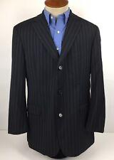 Hugo Boss Rossellini Movie Black Striped Wool Blazer 42R