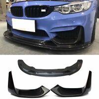 For BMW F80 M3 F82 F83 M4 R Style Carbon Fiber Front Bumper Lip Spoiler Splitter