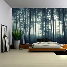 Landscape Mural of a Misty Forest - Wall Mural, Home Decor - 100x144 inches