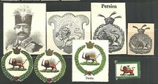Persia old stamp album cut-outs Coat of Arms