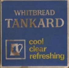 Vintage-1970s-WHITBREAD-TANKARD-beermat-  used