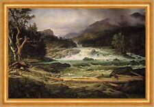 The Labro Falls at Kongsberg Thomas Fearnley Norwegen Fall Wald B A3 03247