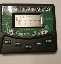 Eletronic Classic Black Jack 21 Hand Held Game Works