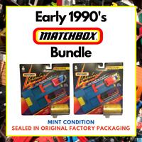 Matchbox 1991 Joblot Bundle Boxed Cars Lightning Challenge Dual Launcher Sets x2