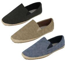 714daf37e76 Mens A1068 Slip on Canvas Shoes by Maverick - Now Black UK 12
