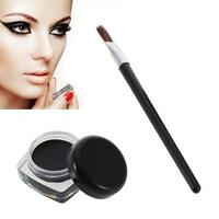 Waterproof Eye Liner Eyeliner Shadow Gel Makeup Cosmetic+Brush long lasting MT
