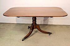Original antique Regency period dining table seats 6 ebony inlaid brass castors
