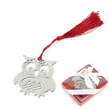 Lovely Owl Pad Creative Metal Note Funny Memo Marker Book Bookmark With Gift Box