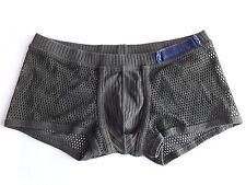 HOM boxer shorts slip in cotone color kaki n rete trasparente Mis 52