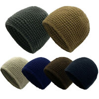 Beanie Hat Mens & Womens Slouch Winter Warm Ski Thick Knitted Hat Skull Cap Hats