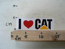 STICKER,DECAL I LOV CAT CATERPILLAR SHOVEL DRAGLINE ? 16 CM