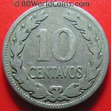 1921 EL SALVADOR 10 CENTAVOS FRANCISCO MORAZAN MEDAL ROTATION COIN Cu-Ni 26mm