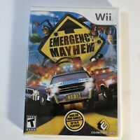 Emergency Mayhem Nintendo Wii 2008 Complete Tested Works