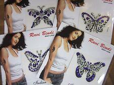 1 Random Purple Butterfly Stick On Crystal Temporary Tattoo Body Jewellery