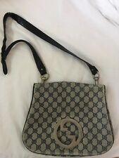 c7e6d78a3ce3 Gucci Handbag Blondie Bag Blue Large G Logo Print Coated Canvas   Navy  Leather