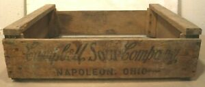 Vintage Campbell Soup Company Original Wooden Shipping Crate Napoleon Ohio 1968