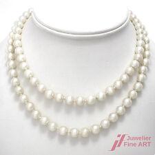 Akoya-Perlencollier -feinster Lüster -18K/750 Gelbgold Schließe- Diamant -0,01ct