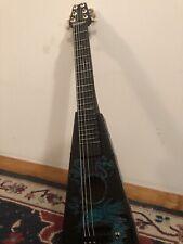 """Acoustic Electric Guitar """"Dual Dragons� 6 String Rare Art Guitar- Look!"""