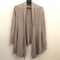 Charter Club 100% Cashmere Medium Cardigan Sweater Open Front Drape Womens