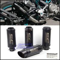 38-51mm Universal Motorcycle ATV Exhaust Muffler Pipe Stainless Steel Tail Tube