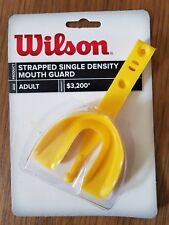 Wilson Adult Single Density Mouth Guard with Strap Yellow New