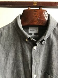 Norse Projects XXL Anton Chambray Grey Shirt
