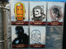IRON MAN 2 The Movie Trading Card Set + 5x ARTIST SKETCH CARD US MARVEL ORIGINAL