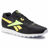 Reebok Men's Classic Rapide MU Trainers Running Shoes DV3806 - Black / Neon Lime