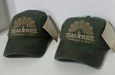 LOT 2 NEW RealTree Turkey Design Hunting Baseball Caps Hat Adjustable Buckle NWT