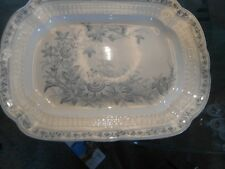 Lara meat platter grey/blue floral 14 inches long 10.5 wide good condition