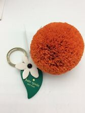 $88 Kate Spade Raffia orange  Key Fob KS56