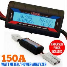 150A Digital LCD Watt Meter Power Analyser Solar Caravan Plug Tool