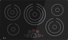"""Lg 36"""" Black, Smooth Surface, Electric Cooktop. Free Shipping."""