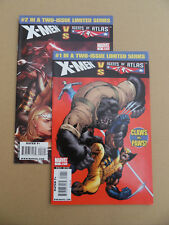 X-Men Vs. Agents Of Atlas 1 , 2 . Lot Complet . Marvel 2009 / 10 . VF