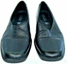 ECCO Pump Womens EUR 37 US 6-6.5 Black Leather Slip On Loafer Heel Shoe Portugal