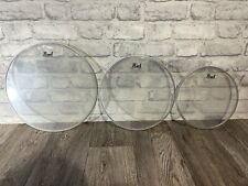 More details for pearl clear resonant tom fusion size drum heads skins set of 3