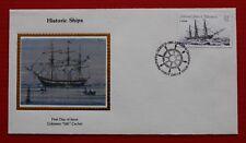 """Clearance - Micronesia (C10) 1985 Historic Ships Colorano """"Silk"""" FDC"""