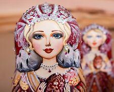 Russian nesting doll, Matryoshka, Empress wooden doll, Wedding gift, Home decor
